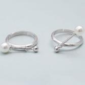 925純銀戒指珍珠-生日情人節禮物獨特造型時尚流行女飾品2款73ae46【巴黎精品】