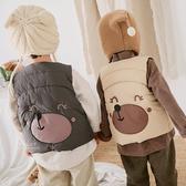 百搭秋冬小熊造型夾棉背心 外套 厚背心 羽絨背心