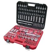 台灣製造155件汽修工具起子套筒組 含2分3分4分特殊尺寸工具 棘輪扳手155件組