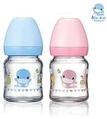 ku.ku酷咕鴨 超矽晶寬口玻璃奶瓶120ml【德芳保健藥妝】顏色隨機出貨