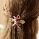 成人發卡夾子水鑚頂夾花朵夾盤發飾品頭花