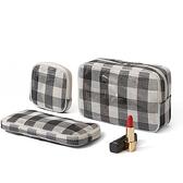 旅行便攜化妝包三件套 多功能美妝數碼收納包 透氣網格袋