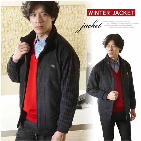 【大盤大】J27829 男 冬 黑 麂皮質感 零碼 M號 特價 保暖外套 防風 機車外套 夾克 節日 約會 送禮
