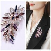 胸針  韓國樹葉珍珠胸針別針水晶胸花西裝毛衣配飾開衫扣