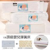 【居家cheaper】贈保潔墊 C款頂級嬰兒彈簧床 58x118x14cm EDO 愛多床墊 手工床 台灣製造 草蓆 乳膠床