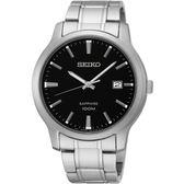 【台南 時代鐘錶 SEIKO】精工 CS系列簡約大三針時尚腕錶 SGEH41P1@7N42-0GE0D 黑/銀 40mm