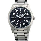 【台南 時代鐘錶 ORIENT】東方錶 FUNG2001B SP系列 飛行運動石英錶 黑面 42mm