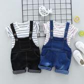 兒童裝夏季男童寶寶夏裝短袖背帶褲套裝0-1-3歲2嬰兒衣服4韓版潮5 春生雜貨