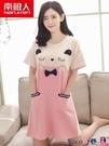 熱賣睡裙 睡裙女夏季韓版純棉短袖少女睡衣甜美可愛卡通家居服連身裙 coco