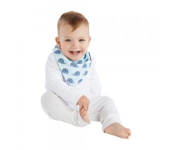 紐西蘭 Mum 2 Mum 雙面時尚造型口水巾圍兜-鯨魚/粉藍 吃飯衣 口水衣 防水衣
