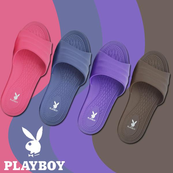 Play Boy時尚室內拖鞋 防滑吸震 EVA材質 浴室拖鞋 SGS檢驗合格 原廠正品 防水 拖鞋 一體成型