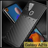 【萌萌噠】三星 Galaxy A21s (6.5吋) 軍事級 三防軍工防摔 斜紋 全包磨砂矽膠軟殼 防指紋 手機殼