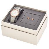 FOSSIL 公司貨 芯花情意時尚套錶組 附精緻耳環一組 造型錶帶 送禮 女錶 白x玫瑰金 ES4383SET