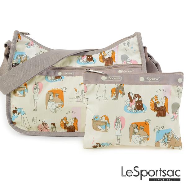 LeSportsac - Standard側背水餃包/流浪包-附化妝包 (歐式休閒) 7520P F457