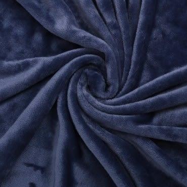 HOLA home 銀離子抗菌柔纖萬用毯 深海藍 單人