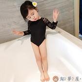 兒童夏季泳衣小童嬰兒女寶寶泳衣連體韓版【淘夢屋】