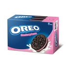 奧利奧OREO巧克力三明治餅乾-草莓口味399g【愛買】