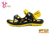 GP涼鞋 中大童 宇宙星球磁扣兩穿足弓防水涼鞋 I6664#黃色◆OSOME奧森童鞋