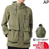 The North Face 3CI6-ZCE綠 TNF男防風防水外套 戶外機能風衣/軍裝風 運動夾克/透氣衝鋒衣