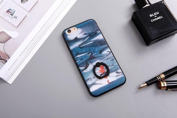  文創現貨  iPhone 7 Plus i7 i7+ i6+ i6 i6S 6 6S 指環 手機殼 指環扣 指環支架 犀牛盾支架 海洋少年
