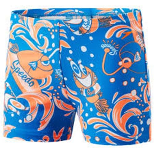 SPEEDO Solarpop 男童 快乾 平口 泳褲 SD805394C248 藍橘印花[陽光樂活]