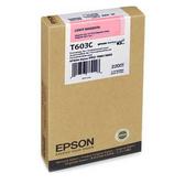 T603C00 EPSON 原廠 淡紅色墨水匣(220ml) 適用 SP-7800/9800