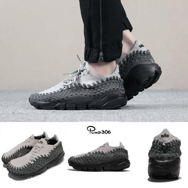 【六折特賣】Nike 休閒鞋 Wmns Air Footscape Woven 灰 黑 編織鞋 麂皮 運動鞋 女鞋【PUMP306】 917698-004