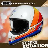 [中壢安信]日本 SHOEI EX-ZERO 彩繪 EQUATION TC-2藍白 全罩 安全帽 復古越野 山車帽 哈雷