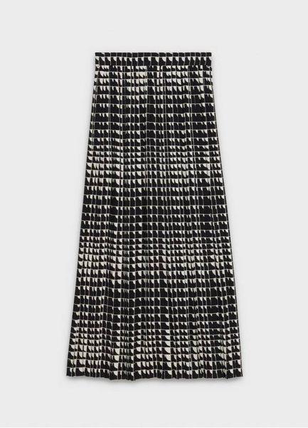 ■專櫃61折■Celine 瑟琳對角印花喬其紗褶襇長半截裙 尺寸:FR 38 /40 /42