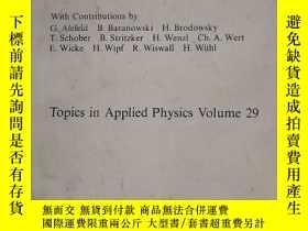 二手書博民逛書店HYDROGEN罕見IN METALS 2 金屬中的氫2-與應用有關的性質Y153827 G.ALEFELD