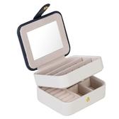 便攜式首飾盒簡約迷你旅行首飾包小巧手飾耳環耳釘飾品收納盒子