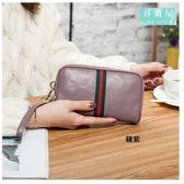 【喜番屋】真皮牛皮可裝5.5吋手機皮夾皮包零錢包手機包手拿包手抓包女包女夾【LH415】
