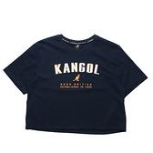 KANGOL 短T 短版T 深藍 胸前大英文LOGO 年份 女 (布魯克林) 6122100680
