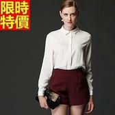 西裝短褲精美自信-時尚魅力俐落個性女褲子66ai40【巴黎精品】