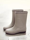 雨靴 日式時尚雨鞋女中筒水鞋防滑膠鞋防水女雨靴子套鞋水靴雨靴