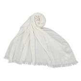 CalvinKlein CK滿版LOGO絲質寬版披肩圍巾(白色)103252-1