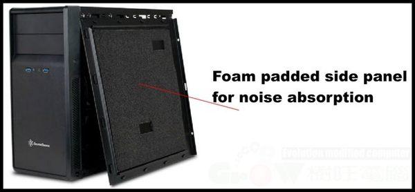 [地瓜球@] 銀欣 SilverStone PS09 精準系列 電腦玩家機殼~隔音棉側板降低噪音~(客訂)