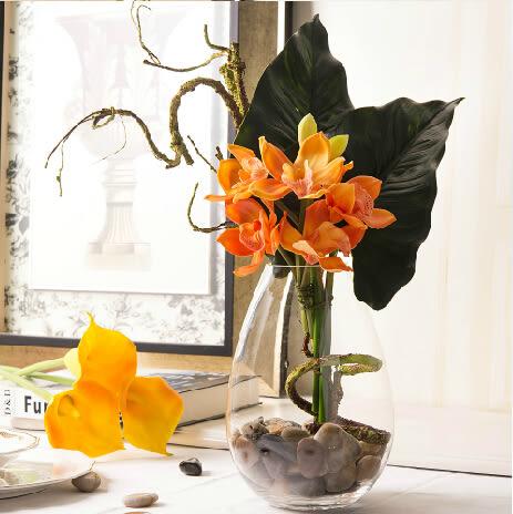 模擬花假花 套裝 花藝 客廳餐桌 裝飾花 花瓶花束 -bri01079