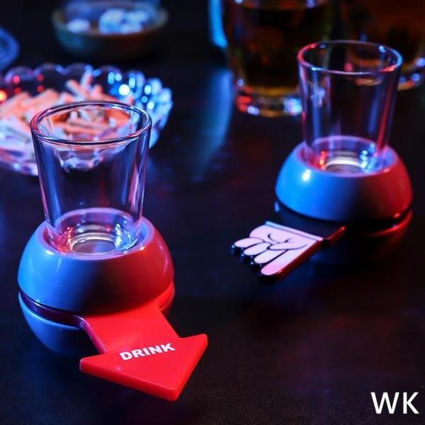 創意個性喝酒轉盤玩具俄羅斯 娛樂助興游戲道具酒吧KTV酒令用品 wk