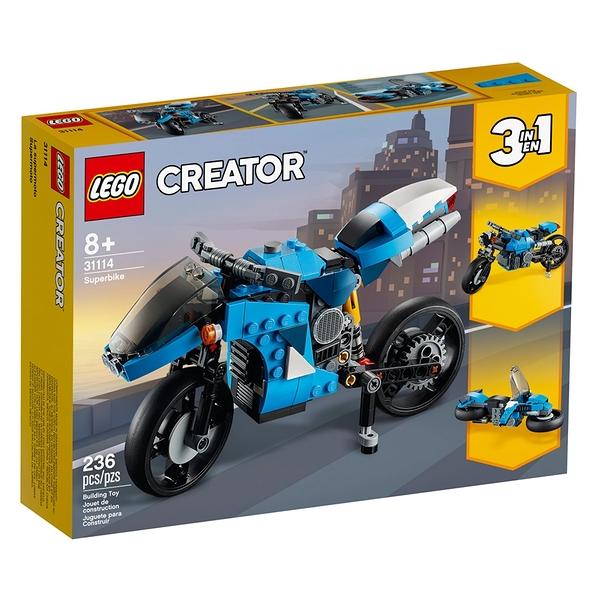 LEGO樂高 Creator 創意大師系列 超級摩托車_LG31114