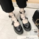 復古森女系圓頭松糕厚底娃娃鞋單鞋春夏學院風日系包頭小皮鞋子 黛尼時尚精品