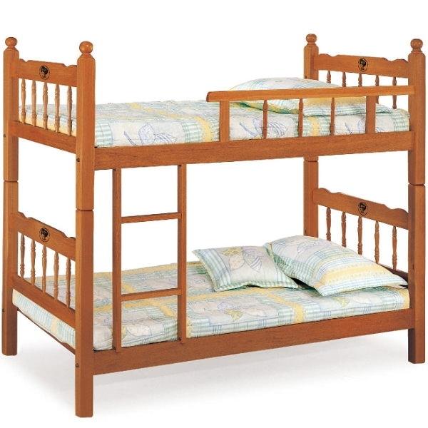 雙層床 AT-601-1 3尺柚木雙層床 (不含床墊) 【大眾家居舘】