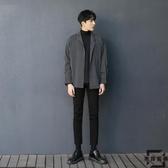 條紋襯衫長袖寬松男潮流慵懶休閒韓版襯衣【左岸男裝】
