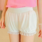 安全褲 安全褲女防走光不卷邊夏保險蕾絲可愛南瓜褲內搭打底短褲-Ballet朵朵