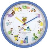 〔小禮堂〕迪士尼 玩具總動員 連續秒針圓形壁掛鐘《藍.立體數字》時鐘 4548626-10560