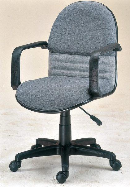 【森可家居】氣壓扶手中轉椅 7JX288-10 電腦椅