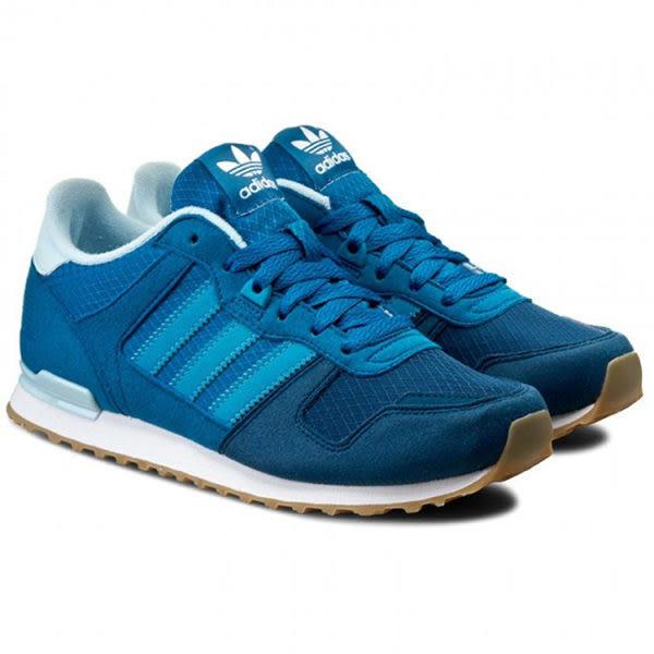Adidas ORIGINALS ZX 700 J 女鞋 慢跑鞋 休閒 輕量 藍 【運動世界】 S76241