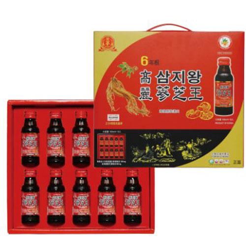 金蔘6年根高麗蔘芝王禮盒(100ml*10瓶入)【德芳保健藥妝】