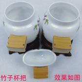 新款精品陶瓷鳥食罐八角罐畫眉碗四喜 貼花高白釉鳥籠杯配件喂食器簍鳥 時尚教主