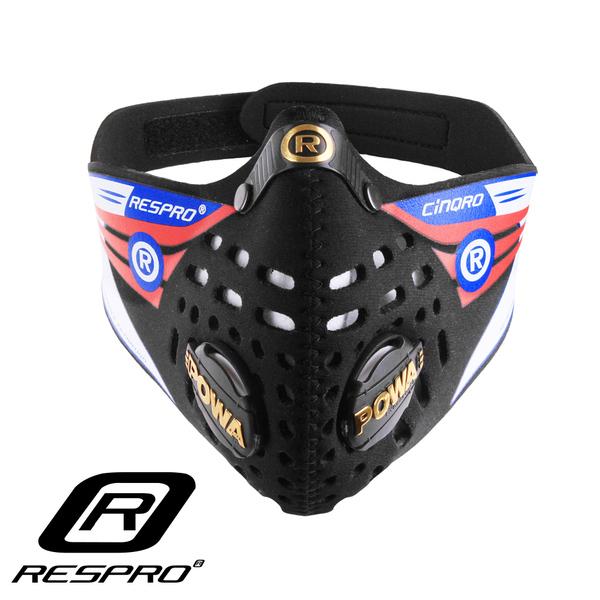 英國 RESPRO CINQRO 運動款多重防護口罩( 黑色 )